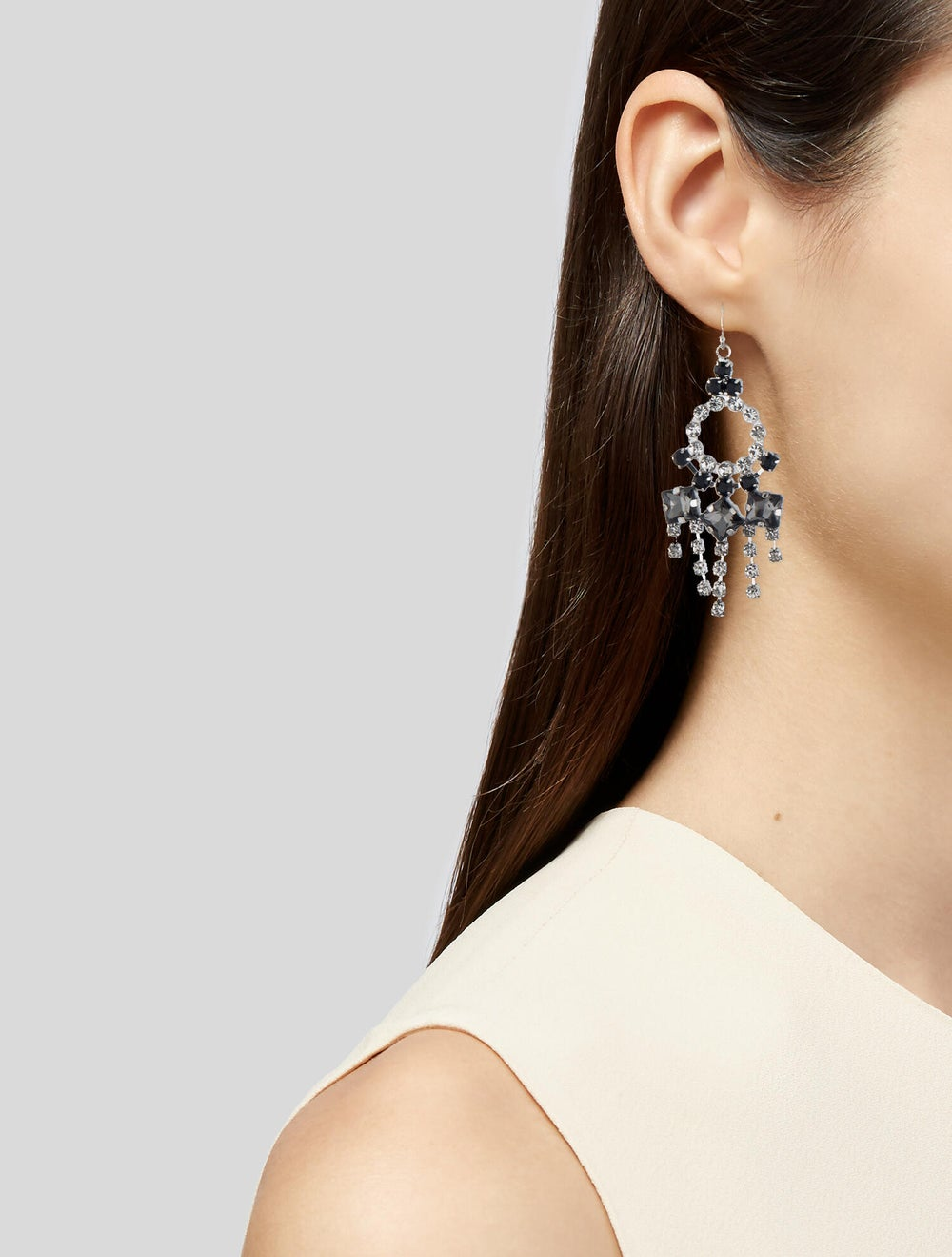 Lulu Frost Crystal Chandelier Earrings Silver - image 2