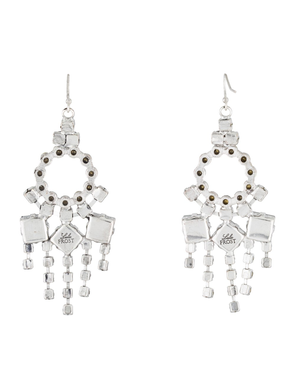 Lulu Frost Crystal Chandelier Earrings Silver - image 3