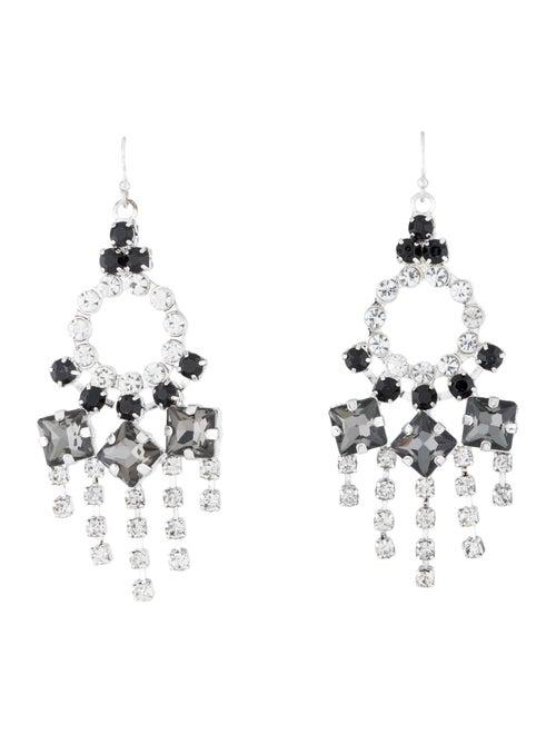 Lulu Frost Crystal Chandelier Earrings Silver