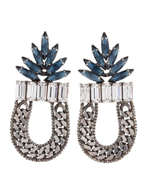 Dannijo Amara Drop Earrings silver