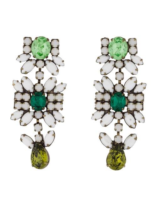 Dannijo Crystal Drop Earrings gold