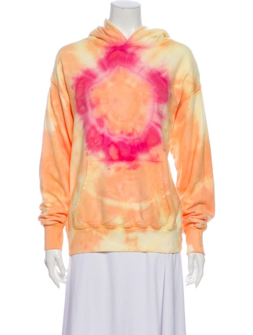 Dannijo Tie-Dye Print Mock Neck Sweatshirt Yellow