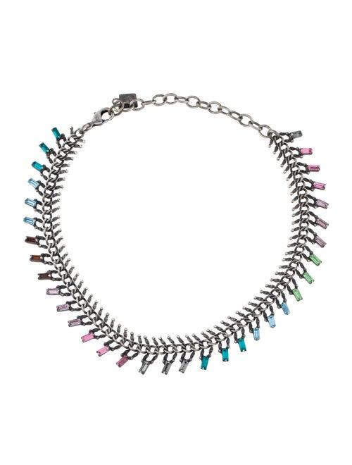 Dannijo Crystal Collar Necklace Silver