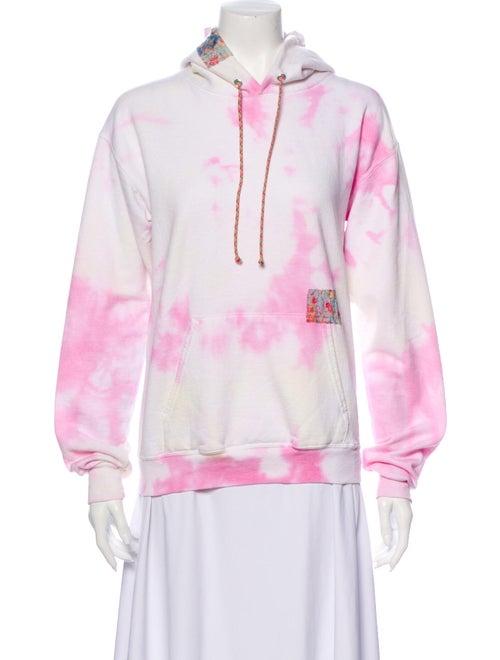 Dannijo Tie-Dye Print Crew Neck Sweatshirt White