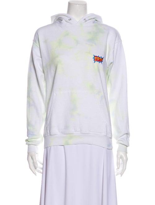 Dannijo Tie-Dye Print Mock Neck Sweatshirt White