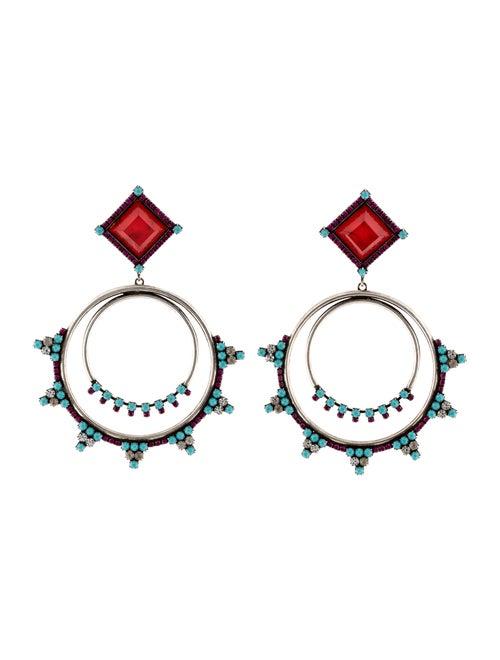 Dannijo Ubaldo Chandelier Earrings Silver