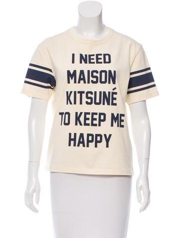 Maison Kitsuné Screen Print Logo T-Shirt