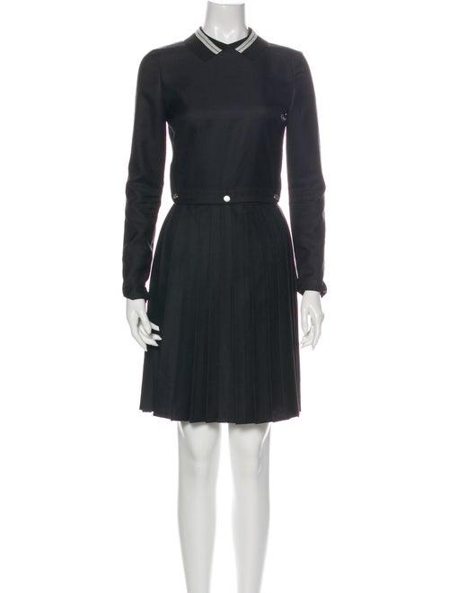 Maison Kitsuné Pleated Accents Skirt Set Black
