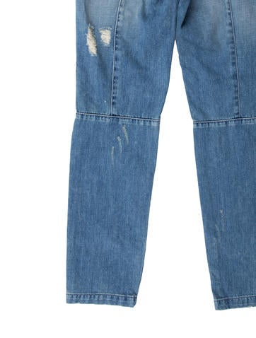 Distressed Skinny Leg Jeans