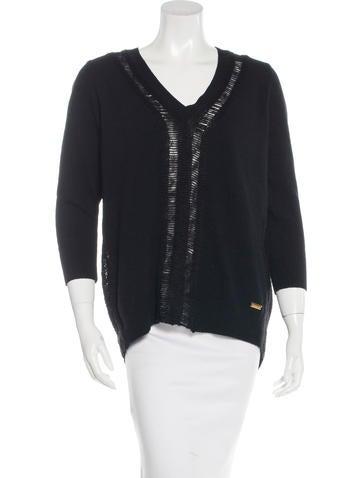 Pierre Balmain Wool-Blend Lattice Sweater None