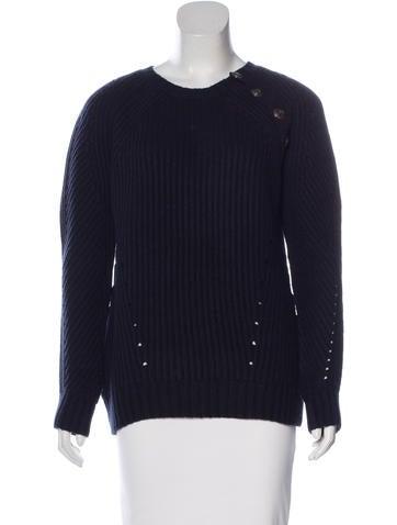 Pierre Balmain Rib Knit Wool-Blend Sweater None