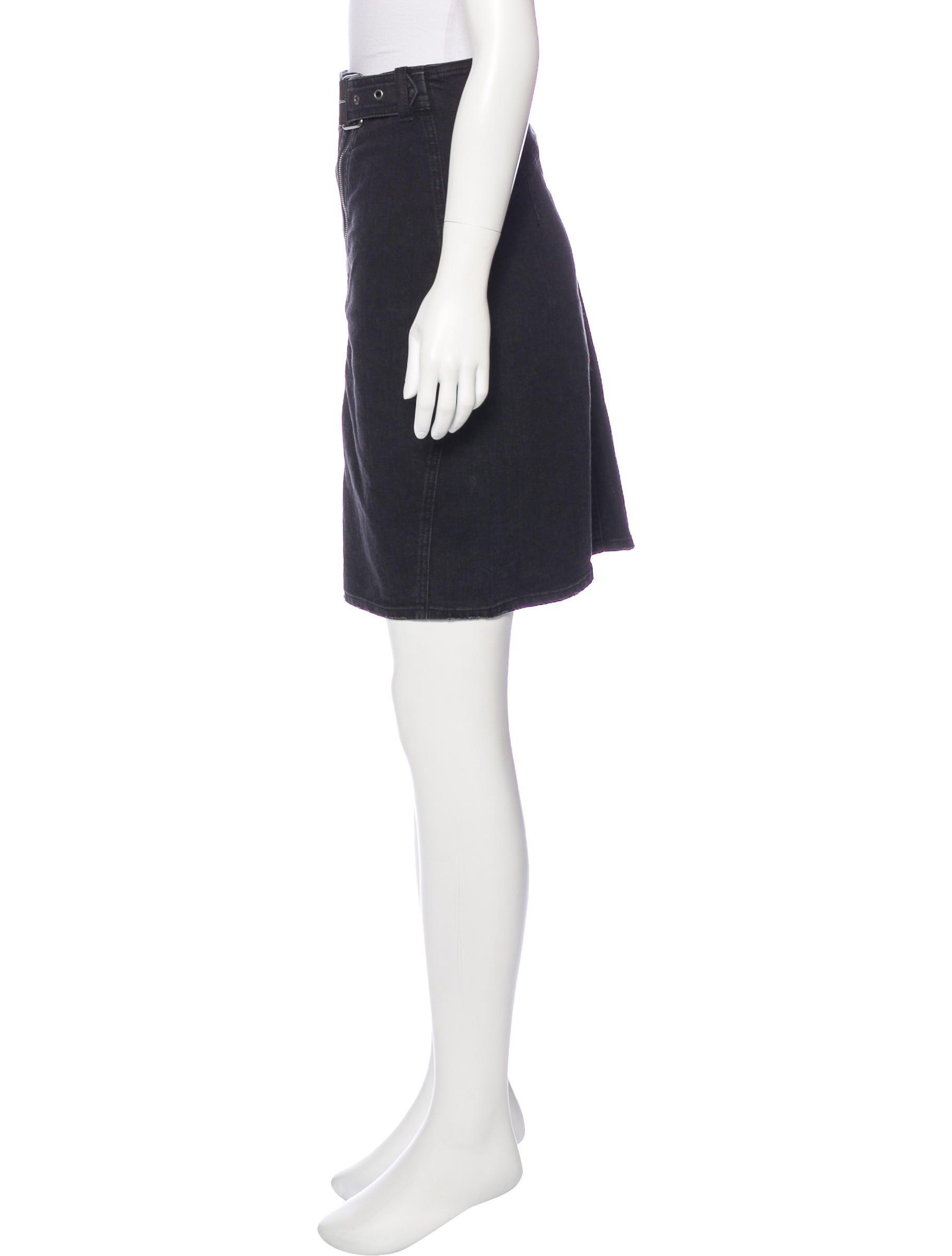 balmain denim knee length skirt clothing