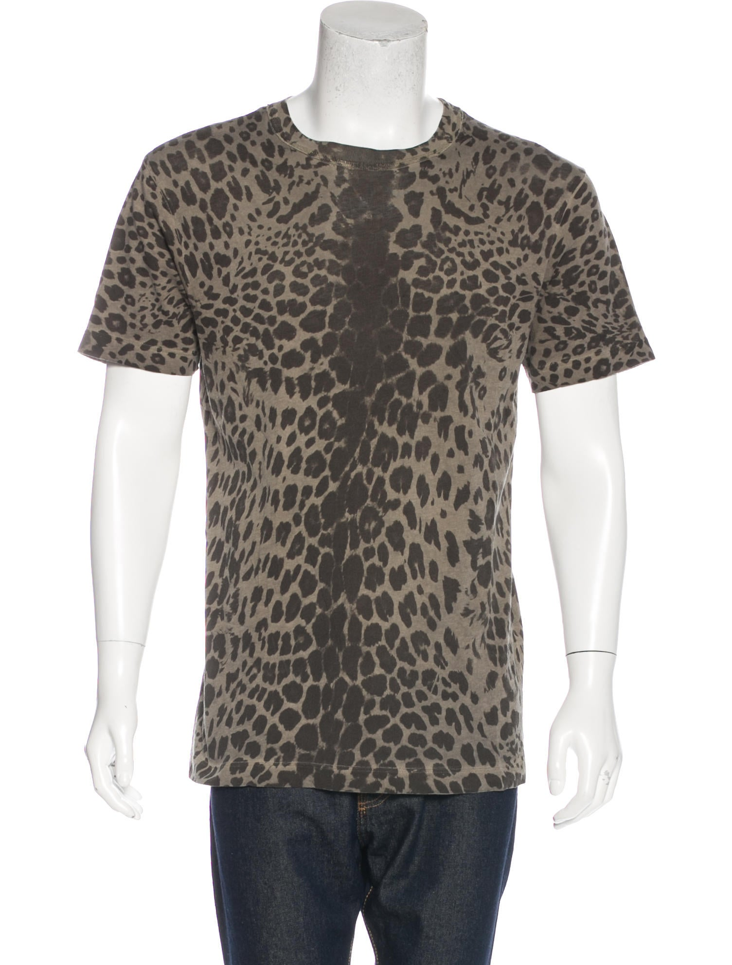 pierre balmain cheetah print t shirt clothing w1p21495 the realreal. Black Bedroom Furniture Sets. Home Design Ideas