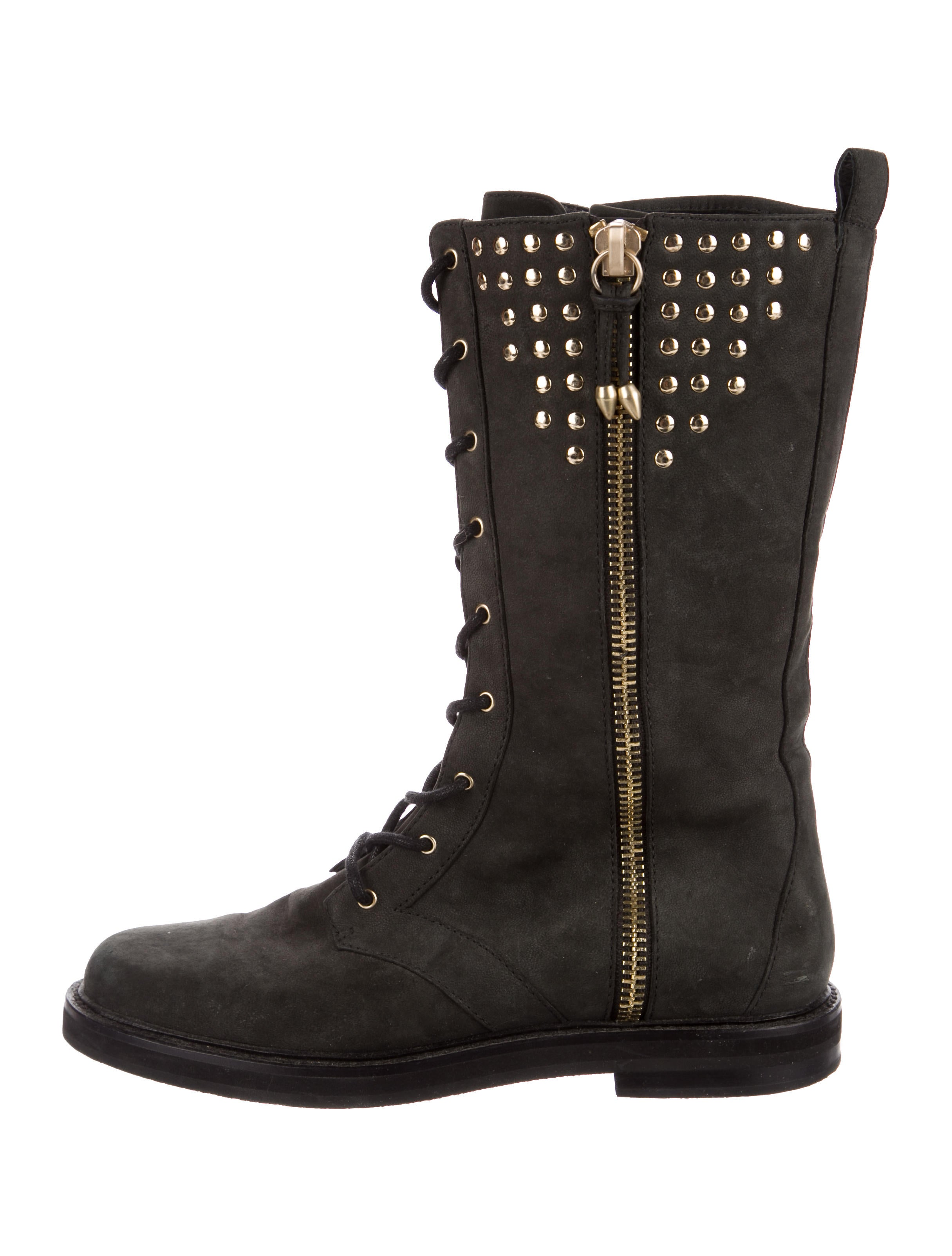 Pierre Balmain Studded Suede Combat Boots discounts cheap price free shipping prices DaHqD