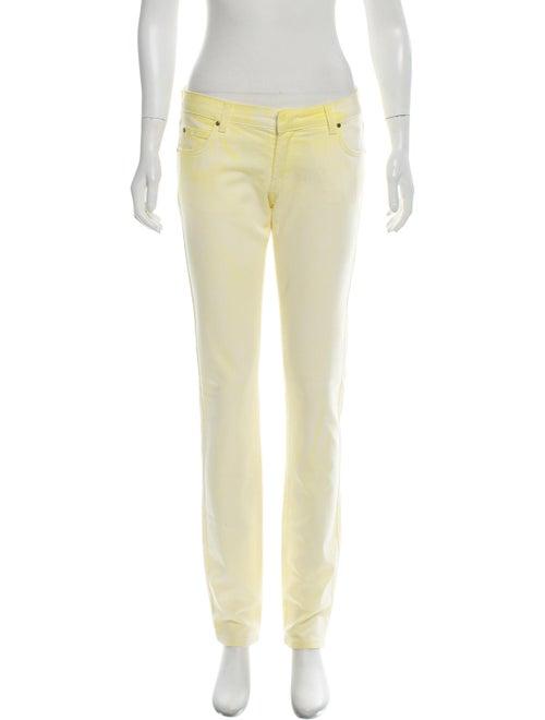Pierre Balmain Mid-Rise Skinny Jeans yellow