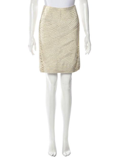 Pierre Balmain Metallic Tiered Skirt w/ Tags Meta… - image 1