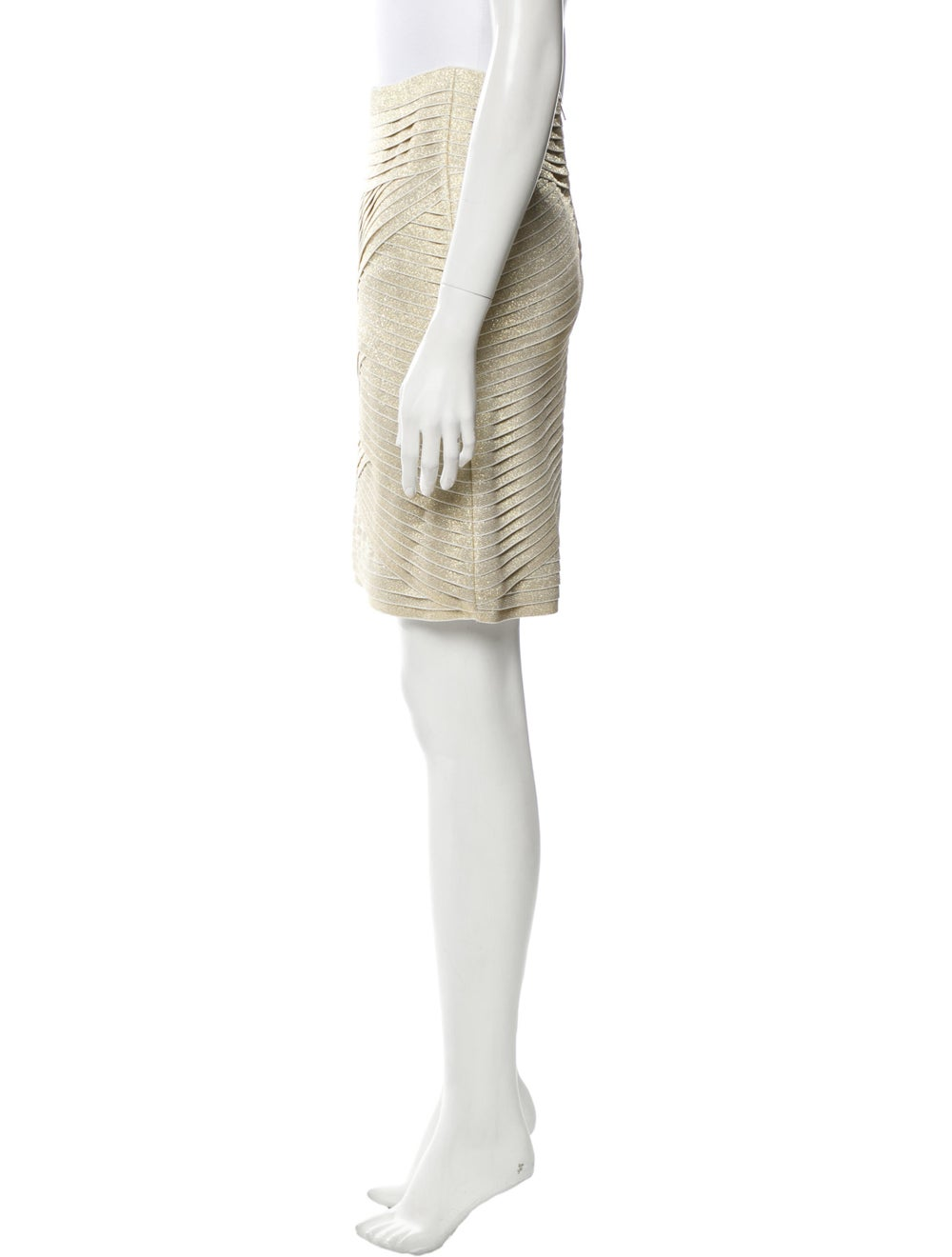 Pierre Balmain Metallic Tiered Skirt w/ Tags Meta… - image 2