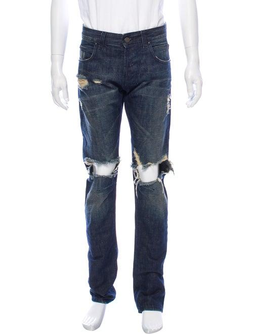 Pierre Balmain Skinny Jeans Blue