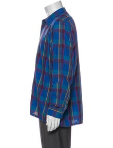Pierre Balmain Plaid Print Long Sleeve Dress Shirt