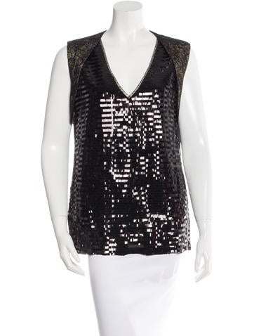 Sequinned Sleeveless Top w/ Tags