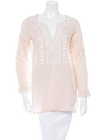 Sachin + Babi Embroidered Long Sleeve Top None