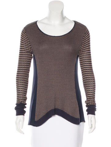 Sachin + Babi Paneled Long Sleeve Sweater None