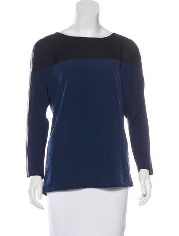 Sachin + Babi Long Sleeve Silk Top w/ Tags None