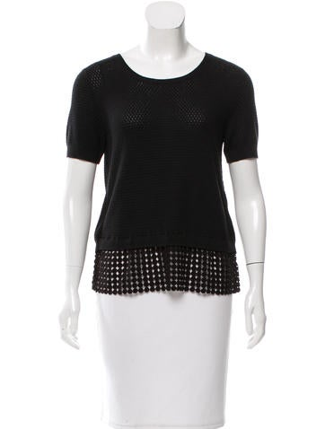Sachin + Babi Short Sleeve Knit Top None