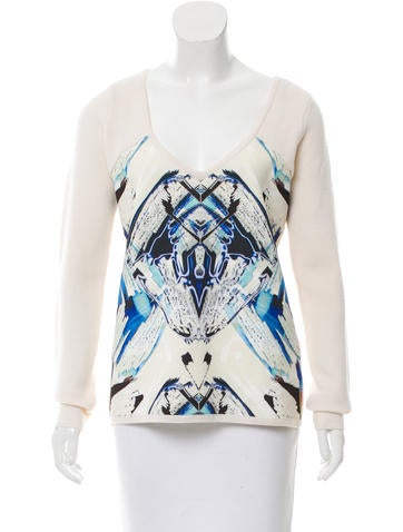 Sachin + Babi Wool Printed Sweater None