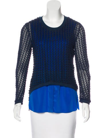 Sachin + Babi Layered Open Knit Top None