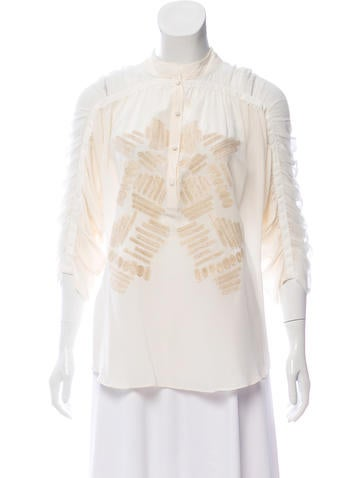 Sachin + Babi Silk Long Sleeve Top None