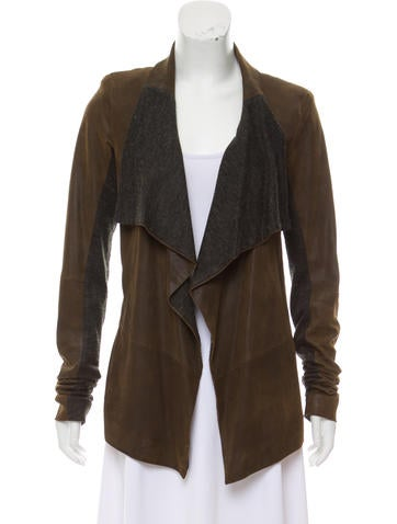 Sachin + Babi Draped Leather Jacket None