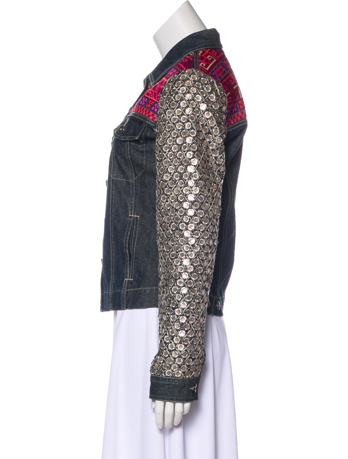 Sachin + Babi Embellished Denim Jacket Clearance Professional Free Shipping Outlet Locations Buy Cheap Outlet Locations Outlet Eastbay hpjZRZ