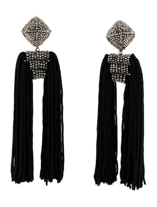 Sachin + Babi Dupio Tassel Clip-On Drop Earrings S