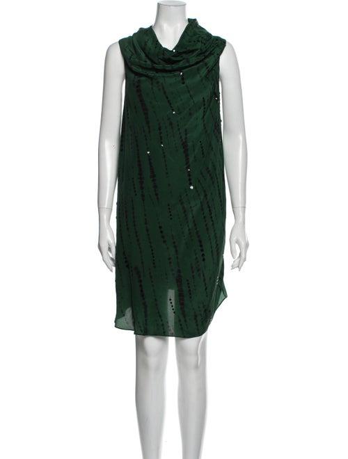 Sachin + Babi Tie-Dye Print Knee-Length Dress Gree