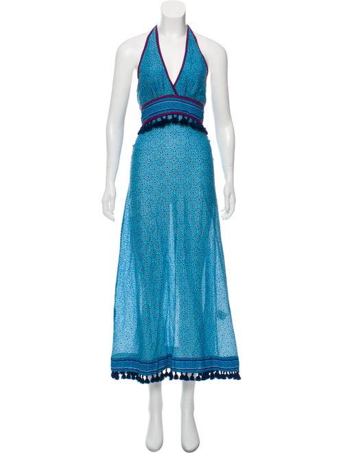 Talitha Printed Maxi Dress Blue