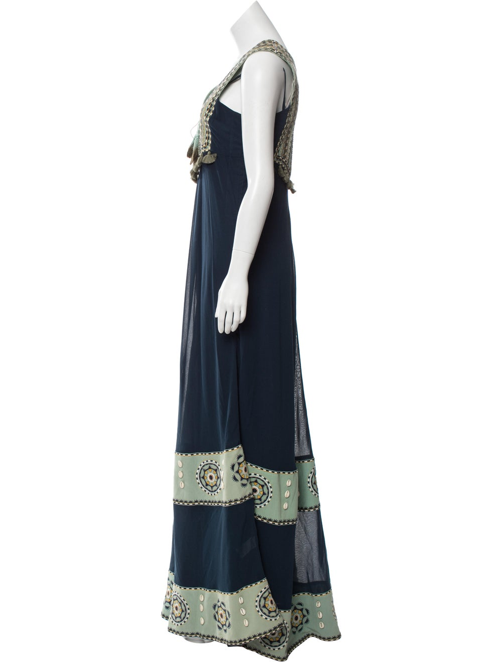 Talitha Poplin Embroidered Dress w/ Tags Blue - image 2