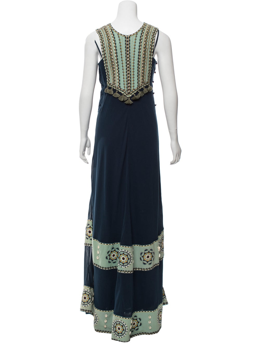 Talitha Poplin Embroidered Dress w/ Tags Blue - image 3