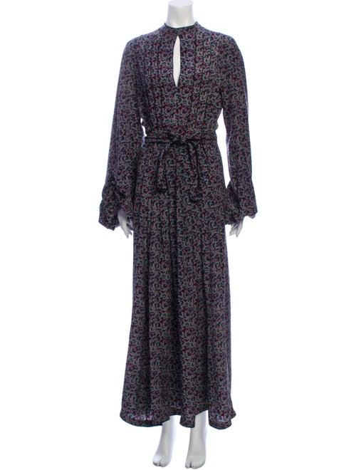 Talitha Silk Long Dress Black