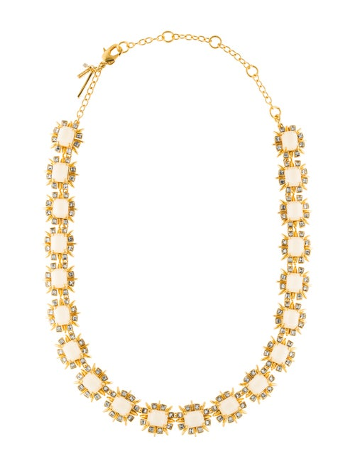 Lele Sadoughi Solstice Crystal Necklace Gold
