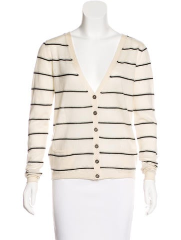 Banjo & Matilda Cashmere Striped Cardigan None
