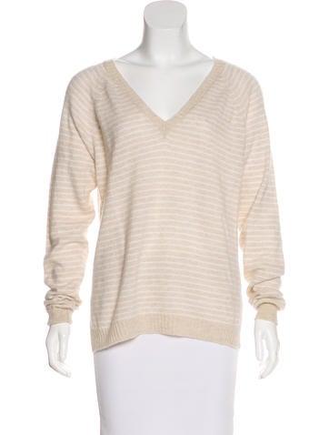 Banjo & Matilda Striped V-Neck Sweater None