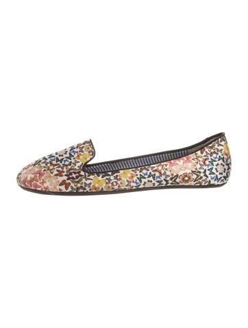 cheap sale extremely clearance supply Charles Philip Shanghai Printed Round-Toe Flats best seller cheap online free shipping ebay V1tbO6