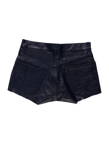 Leather Cutoff Shorts