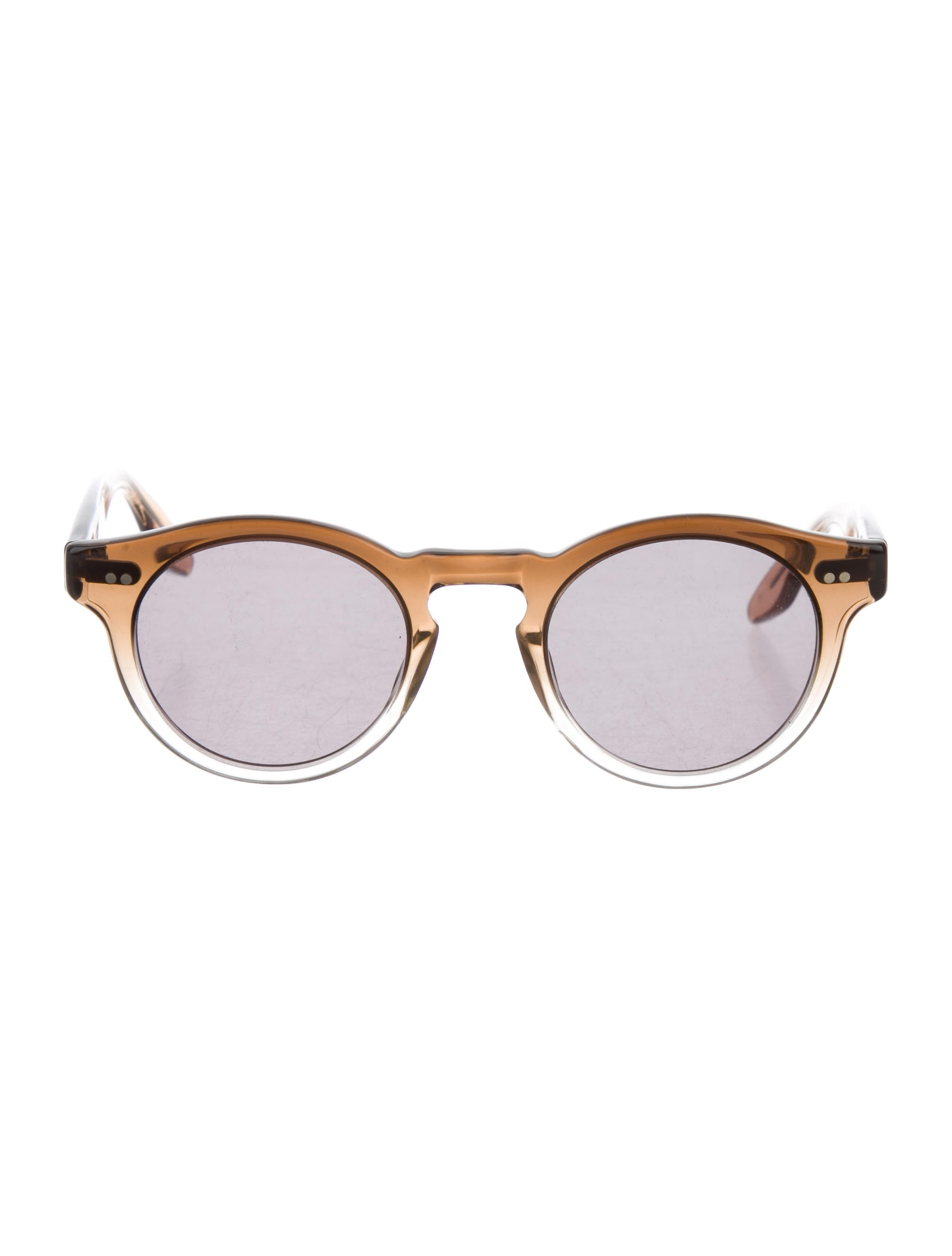 7a81aca39f3 Chloe Sevigny for Opening Ceremony Round Gradient Sunglasses ...