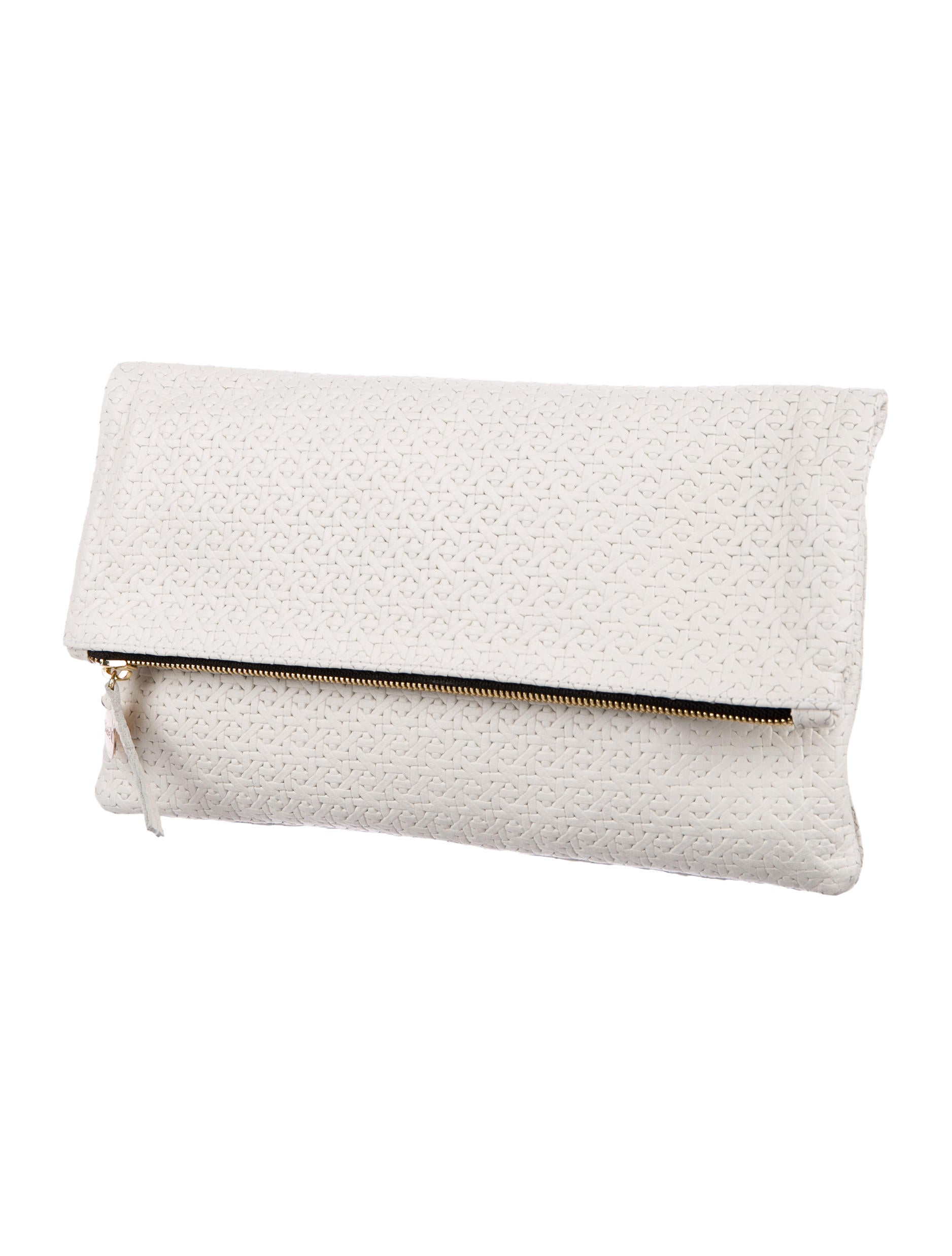 Fold over flap clutch : Clare v fold over leather clutch handbags w
