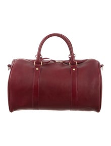 5698fe78f228 Clare V. Leather Duffel Bag