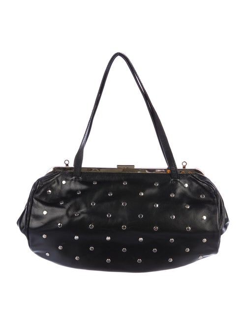 Clare V. Studded Frame Bag Black