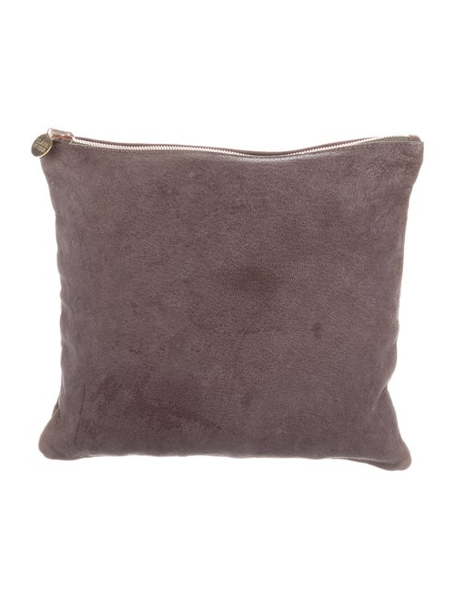 Clare V. Fabric Clutch Bag Grey