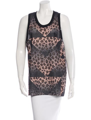 Adidas Patterned Sleeveless Top None